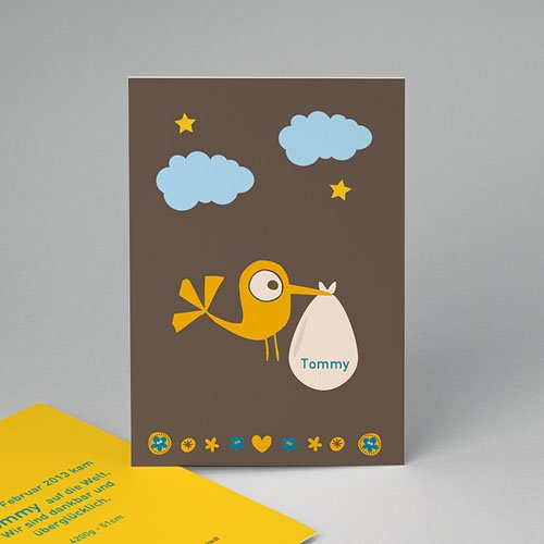 Babykarten für Jungen - Storch Junge 14938