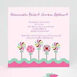 Geburtstagseinladungen Mädchen - Geburstageinladung zucker - 1