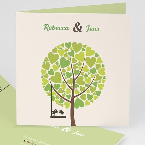Hochzeitseinladungen modern - Grünes Design  15439