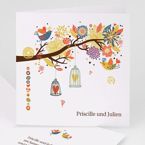 Hochzeitseinladungen modern - Frühlingsgefühle 15544