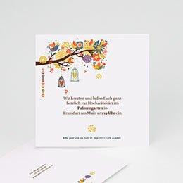 Einlegekarte individuell - L'arbre enchanté - 1