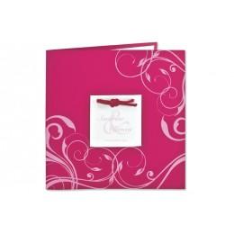 Archivieren - Einladung fuchsia mit rosa Arabesken JZ-512 - 1