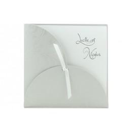 Archivieren - Einladung grau mit Blumen Arabesken JV-158 - 1