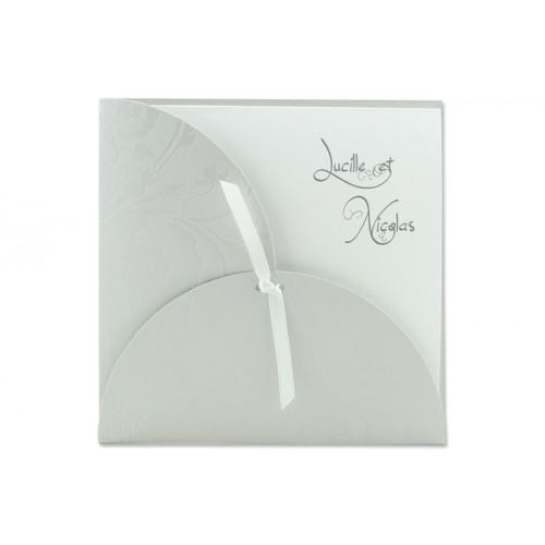 Archivieren - Einladung grau mit Blumen Arabesken JV-158 15668
