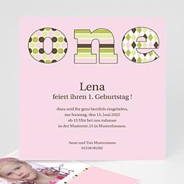 Geburtstagseinladungen Mädchen - Kindergeburtstag - one - Mädchen - 1
