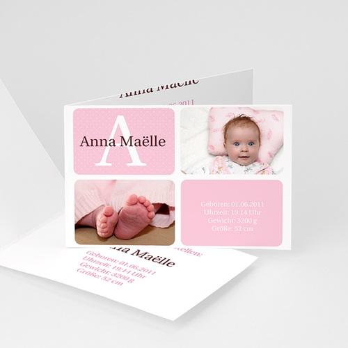 Geburtskarten für Mädchen - Geburtskarte Marta 15828