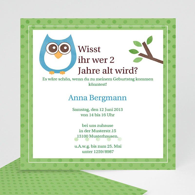 Einladungskarten Kindergeburtstag Eule party - 03285-KR0-RV