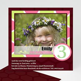 Geburtstagseinladungen Mädchen - Kindergeburtstag - Mädchen - 1