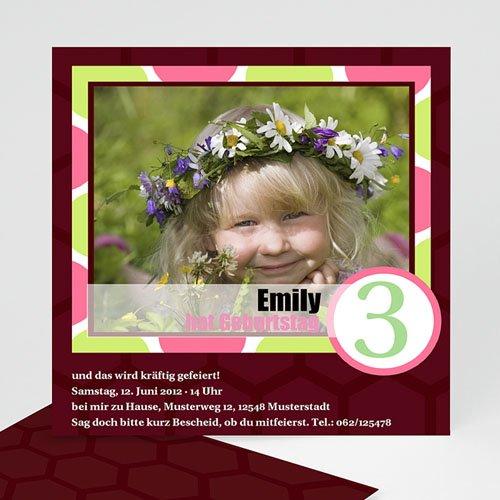Geburtstagseinladungen Mädchen - Kindergeburtstag - Mädchen 1604