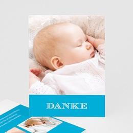 Dankeskarten Taufe Jungen - Blau Fotoserie - 1