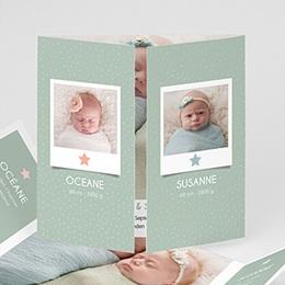 Babykarten für Zwillinge gestalten - Grüne Wiese - 1
