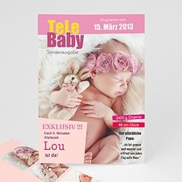 Geburtskarten für Mädchen - Tele Baby - 1