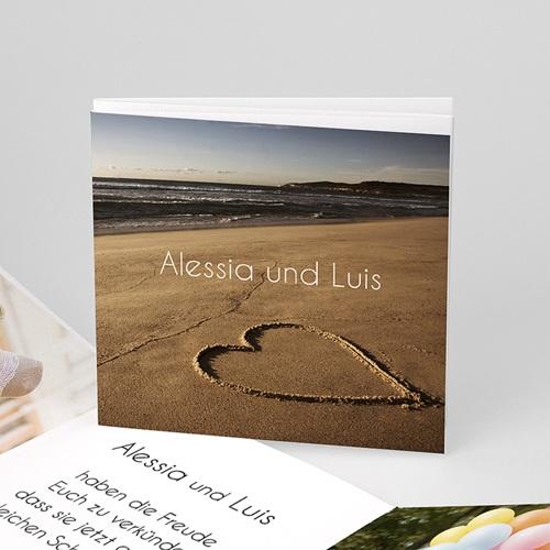 Einladungskarten Hochzeit -Leporello Strand  02023