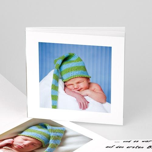 Babykarten für Jungen - Geburtskarte Schwarz-Weiss 16346