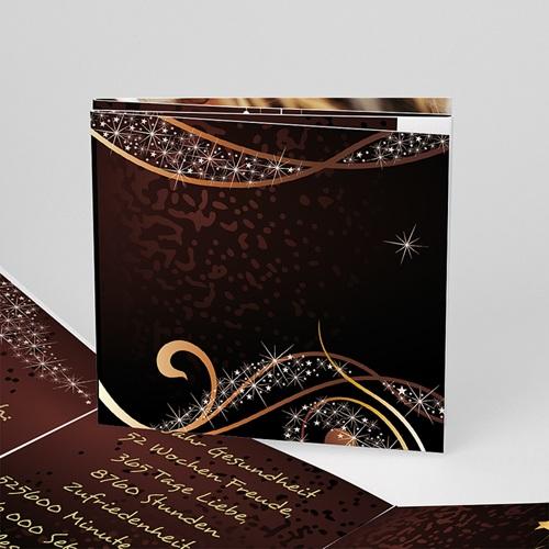 Weihnachtskarten - Gold und Braun 16359