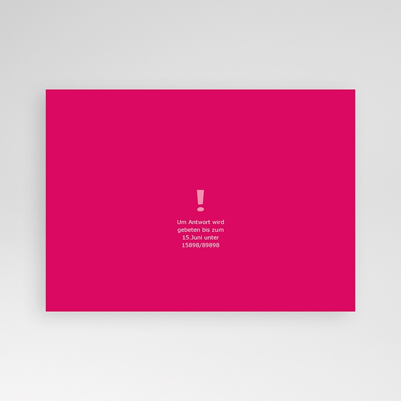 16 7 cm x 12 cm einladungskarten geburtstag rosatöne 03268 rn1 rv