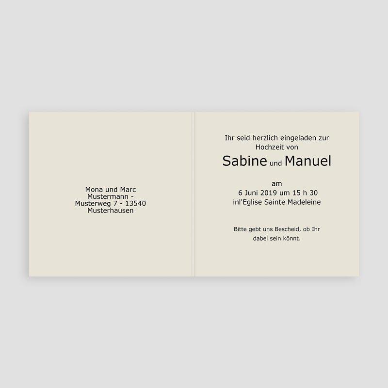 Hochzeitseinladungen modern - Hochseitskarte moderne Arabeske 16636 ...