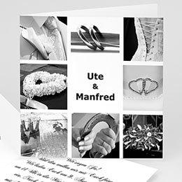 Hochzeitseinladungen modern - Hochzeitskarte Fotoserie 1 - 1
