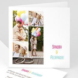 Hochzeitseinladungen modern - Hochzeitskarte Venedig - 1
