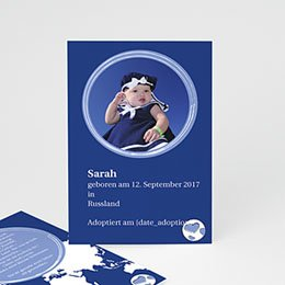 Adoptionskarten für Mädchen - Annahmekarte - 1