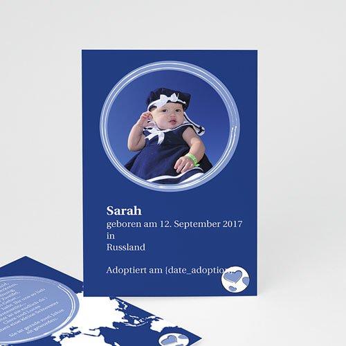 Adoptionskarten für Mädchen - Annahmekarte 16975