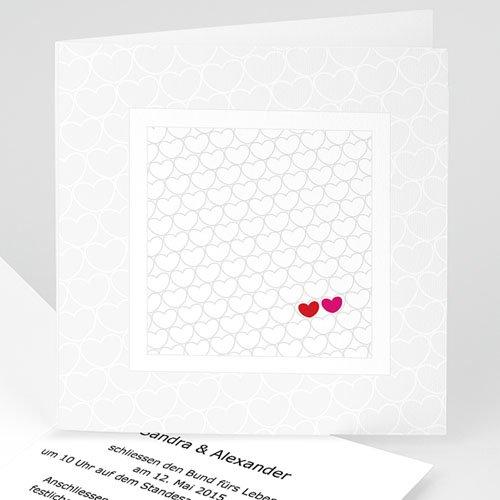 Hochzeitseinladungen modern - Hochzeitskarte Jess 17016