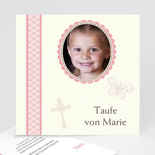 Einladungskarten Taufe Mädchen - Retro Mädchen - Taufe  17045