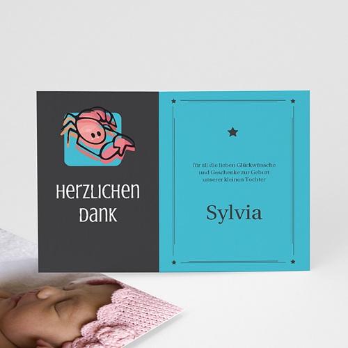 Dankeskarten Geburt Mädchen - Sternzeichen Skorpion 17085