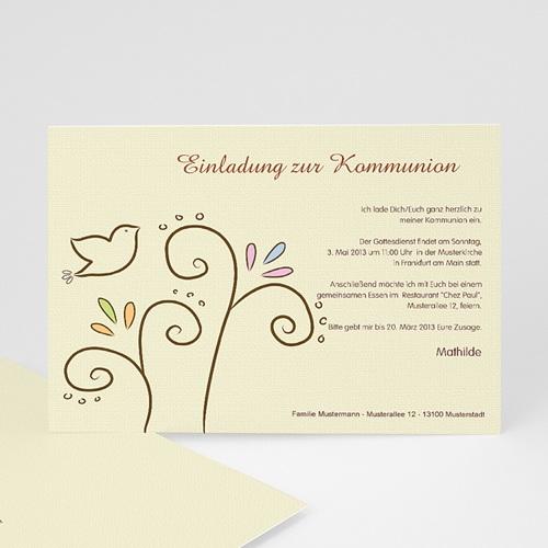 Einladungskarten Kommunion Mädchen - Heiliger Geist 17484