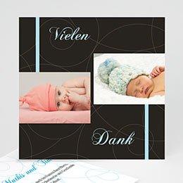 Dankeskarten Geburt Jungen - Schlicht und klassisch - 1