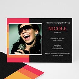 Runde Geburtstage - Geburtstageinladung Nicole - 1