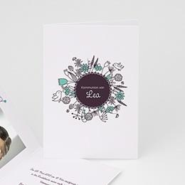 Einladungskarten Kommunion Mädchen - Florale Kommunion - 1