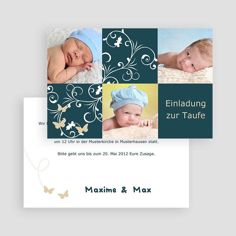 Einladungskarten Taufe Mädchen - Taufe - Foto  Carteland.de