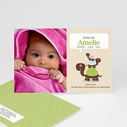 Geburtskarten für Mädchen - Babykarte Schildkröte - 1