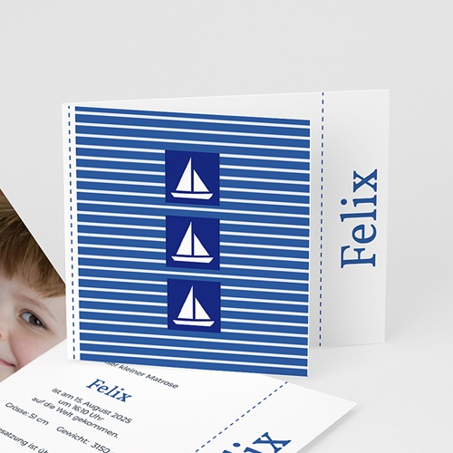 Babykarten für Jungen - Kleiner Seemann 2054