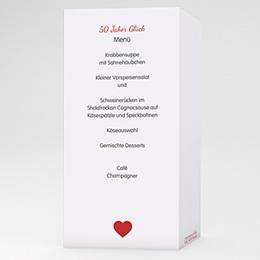 Menükarten Geburtstag - 50 Jahre Liebe - 1