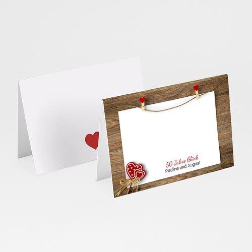 Tischkarten Geburtstag - 50 Jahre Liebe 20584