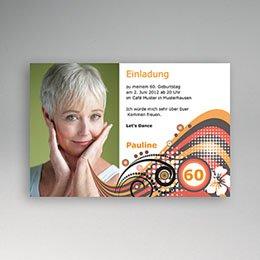 Runde Geburtstage - Einladungskarte Sechziger - 1