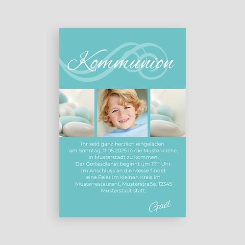 Einladungskarten Kommunion Jungen - Kalligrafie 2114