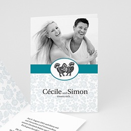 """Hochzeitseinladungen modern - Danksagung """"Lissabon"""" - 1"""