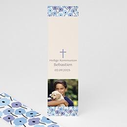 Lesezeichen - Blaue Blumen - 1