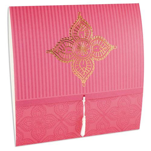 Orientalische Hochzeitskarten  - DORA - Himbeere 21624