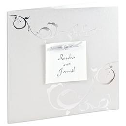 Orientalische Hochzeitskarten  - Ines -Grau - 1