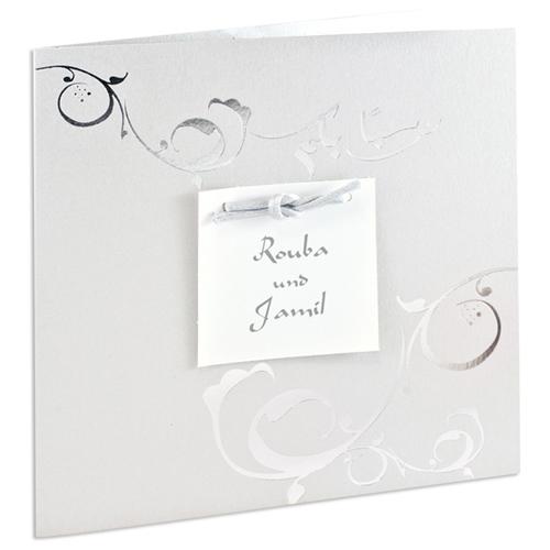 Orientalische Hochzeitskarten  - Ines -Grau 21664