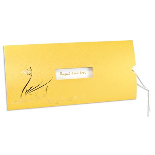 Orientalische Hochzeitskarten  - Gold 21668