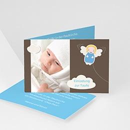 Einladungskarten Taufe Jungen  - Engelstaufe - 1