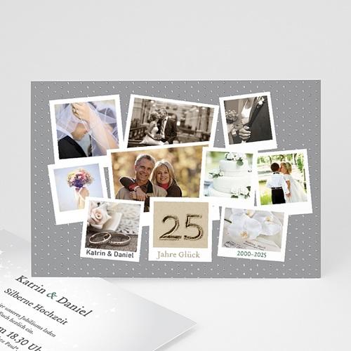 Silberhochzeit und goldene Hochzeit  - Collage Retro 21779