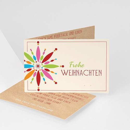 Weihnachtskarten - Weihnachtskarte Stern 21817