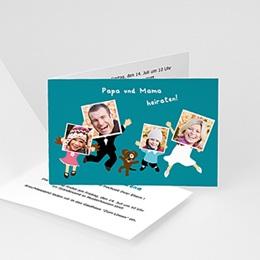 Hochzeitseinladungen modern - Happy Family - 1