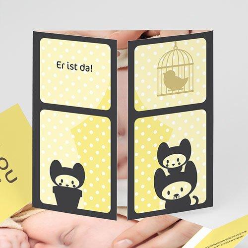 Geburtskarten für Mädchen - Neugieriges Kätzchen 2194